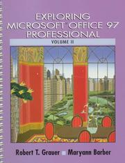 Cover of: Exploring Microsoft Office 97 Professional, Volume II | Robert T. Grauer
