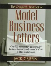 Cover of: The Complete Handbook of Model Business Letters