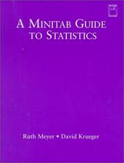 Cover of: A Minitab guide to statistics | Ruth K. Meyer