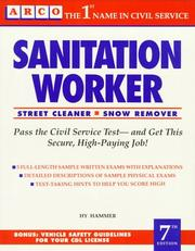 Cover of: Sanitation worker