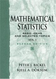 Cover of: Mathematical Statistics | Peter J. Bickel
