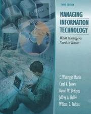 Cover of: Managing Information Technology | Daniel W. Dehayes