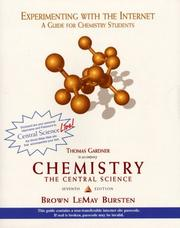 Cover of: Experimenting With the Internet to Accompany Chemistry the Central Science | Thomas Gardner