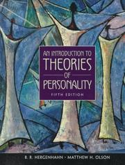 Cover of: An Introduction to Theories of Personality (5th Edition) | B. R. Hergenhahn