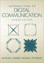 Cover of: Introduction to Digital Communication (2nd Edition) | Rodger E. Ziemer