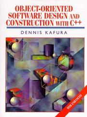 Cover of: Object-oriented software design and construction with C++ | Dennis Kafura
