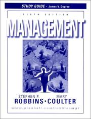 Cover of: Management | James Dupree