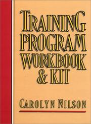 Cover of: Training program workbook and kit