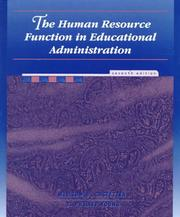 Cover of: The human resource function in educational administration