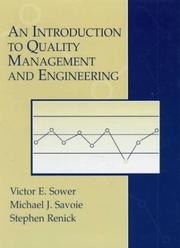 Cover of: introduction to quality management and engineering | Victor E. Sower