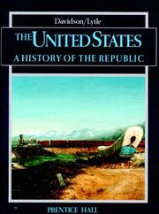 Cover of: The United States: a history of the Republic