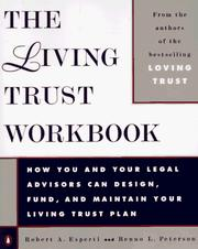 Cover of: The living trust workbook