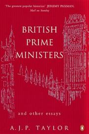 Cover of: British Prime Ministers and Other Essays