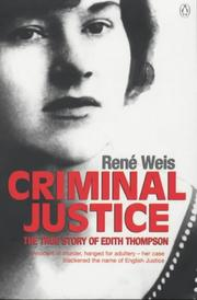 Cover of: Criminal Justice