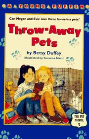 Cover of: Throw-away Pets (Pet Patrol)