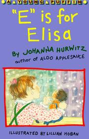 "Cover of: ""E"" is for Elisa"