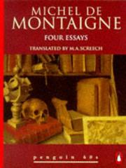 Cover of: Four Essays | Michel de Montaigne