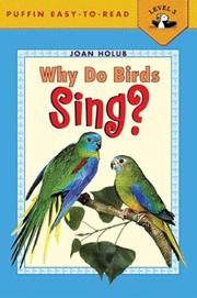 Cover of: Why Do Birds Sing?