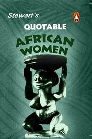 Cover of: Stewart's Quotable African Women