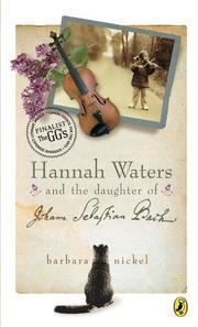Cover of: Hannah Waters and the Daughter of Johann Sebastian Bach