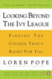 Cover of: Looking Beyond the Ivy League | Loren Pope