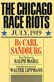 Cover of: The Chicago race riots
