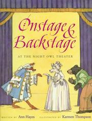 Cover of: Onstage & backstage