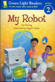 Cover of: My robot | Eve Bunting