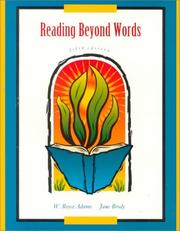 Cover of: Reading beyond words