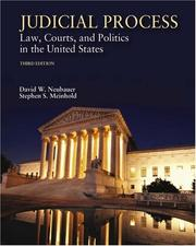 Cover of: Judicial process | David W. Neubauer