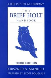 Cover of: Brief Holt Handbook Exercise Manual