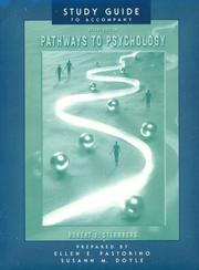 Cover of: Pathways To Psychology Study Guide 2e | Robert J. Sternberg