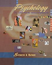 Cover of: Psychology in the new millennium