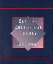 Cover of: Reading rhetorical theory
