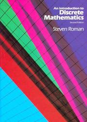 Cover of: An introduction to discrete mathematics