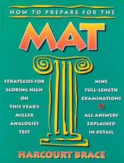 Cover of: How to prepare for the Miller analogies test | Morris Bramson