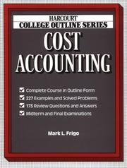 Cover of: Cost accounting
