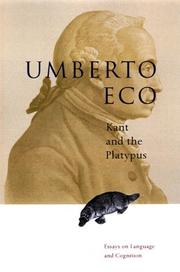 Kant and the Platypus by Umberto Eco