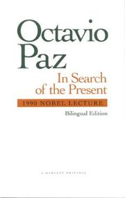 Cover of: In Search of the Present
