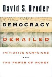 Democracy derailed by David S. Broder