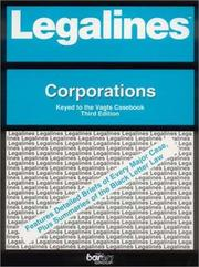 Cover of: Legalines: Corporations