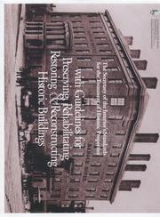 Cover of: The Secretary of the Interior's standards for the treatment of historic properties