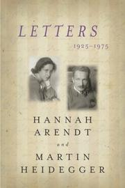 Cover of: Letters  | Hannah Arendt