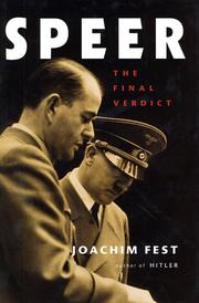 Cover of: Speer: The Final Verdict