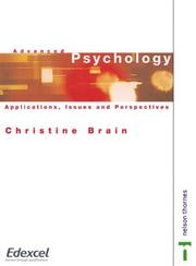 Advanced Psychology - Applications, Issues and Perspectives