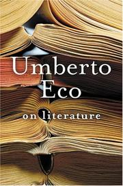 Cover of: On literature | Umberto Eco