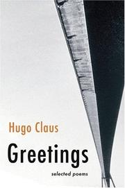 Cover of: Greetings: selected poems