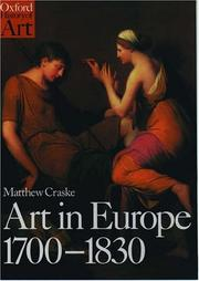 Cover of: Art in Europe, 1700-1830