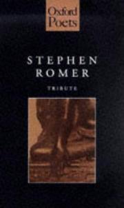 Cover of: Stephen Romer:Tribute (Oxford Poets)