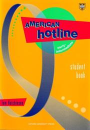 Cover of: American hotline early-intermediate student book